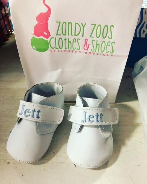 Baby Deer boys monogram shoes (includes