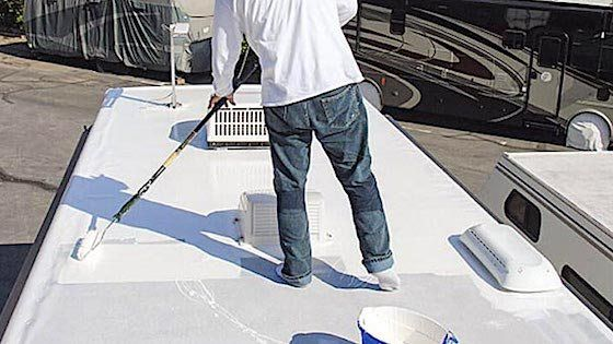 Can I Use Flex Seal On My Rv Roof Rv Roof Repair Membrane Roof Camper Repair