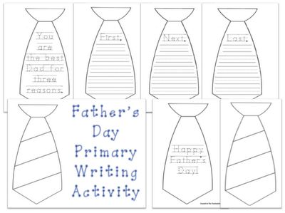 Awesome writing activity - and a great gift for dad!