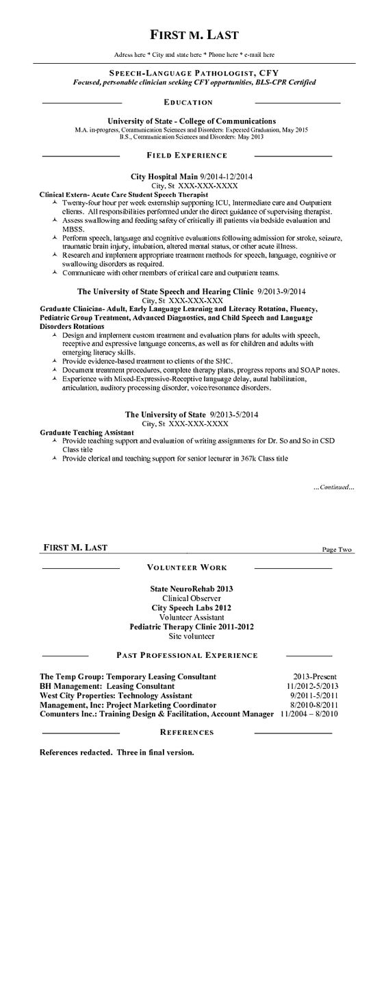 cfy speech pathology cover letter