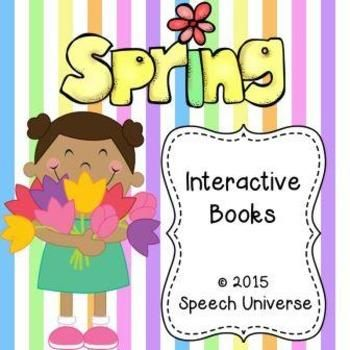 The first book is What Do You See? This book has students use visual icons to create sentences in a book. #Spring #InteractiveBook | by Speech Universe