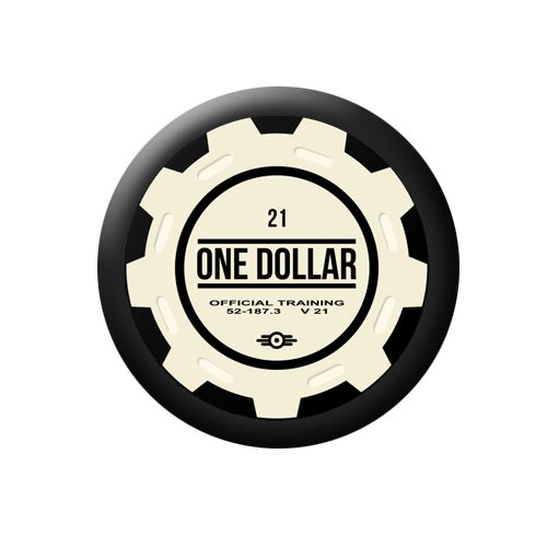 Fallout Button Badge - poker chip �0.99