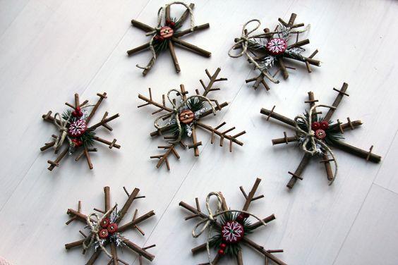 Rustic snowflakes.