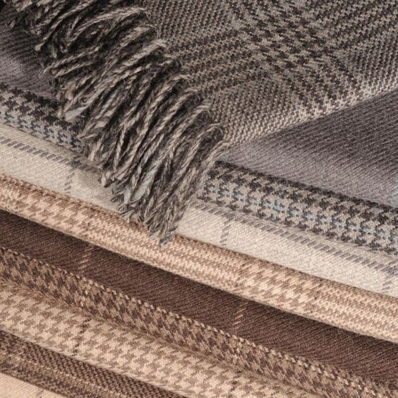 Our favourite pure wool Cadogan throw in so many subtle shades and checks