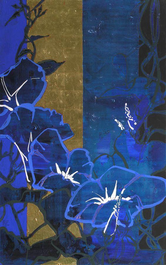 Robert Kushner. Morning Glories. Gallery Jerald Melberg http://onlinequiltingclassesmembership.ning.com/: