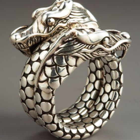 john hardy's double-headed dragon coil ring from the naga collection & my newest jewelry acquisition, which will take 3 months to arrive as it's being made specifically pour moi.
