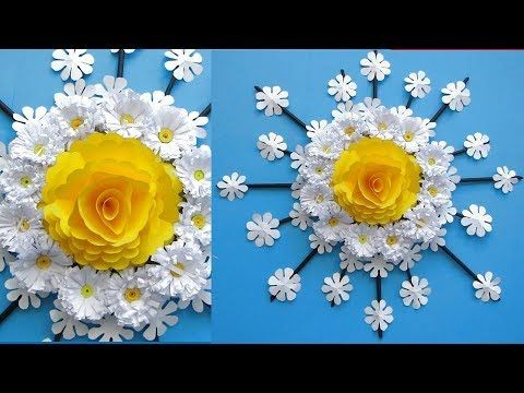Youtube Paper Wall Art Decor Paper Flowers Hanging Flower Wall