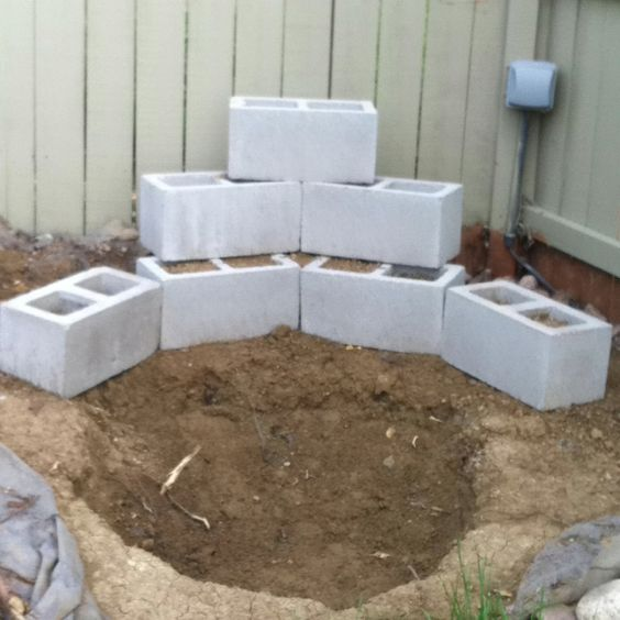 Backyard waterfall step one courtyard ideas pinterest for How to build a small house step by step