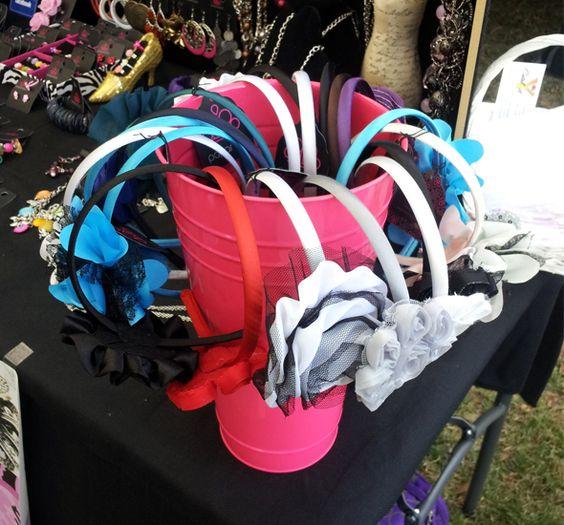 Headband display in a pail!