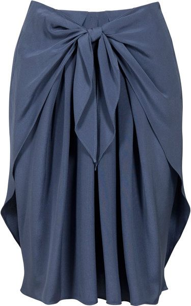 Draped Tie Front Skirt: