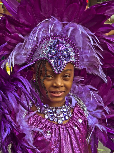 Junior Carnival 2011 Smiling Young Caribbean Girl In A Purple Headdress | Flickr - Photo Sharing!