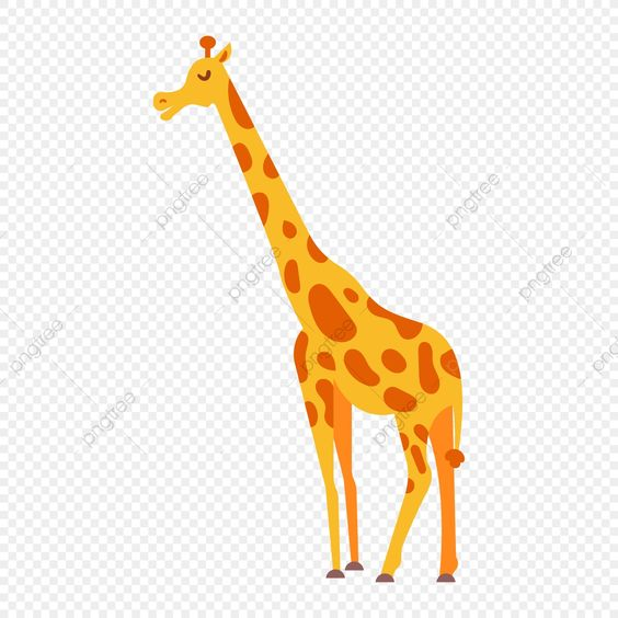 Giraffe Cartoon Zoo Animals Clipart Illustration Isolated Png And Vector With Transparent Background For Free Download Animal Icon Animal Clipart Giraffe