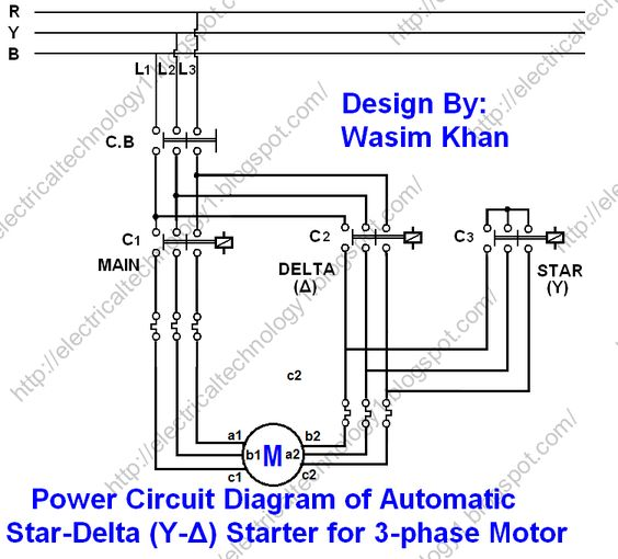 The Star Delta Y 3 Phase Motor Starting Method By
