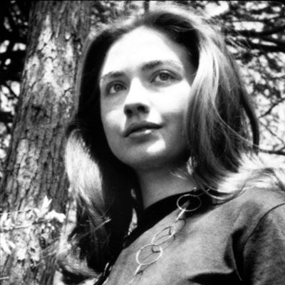 HILLARY CLINTON - 1967 The beautiful Wellesley student got into the spirit of the '60s and let her locks flow.