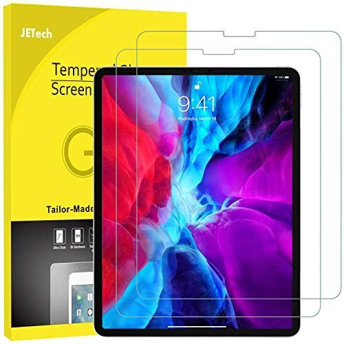 Jetech 2 Pack Screen Protector For Apple Ipad Pro 12 9 Inch 2020 And 2018 Model Release Edge To Edge Liquid Retina Display Face Id Compatible Tempered Glas In 2020 Ipad Pro Accessories Ipad