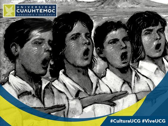 """Recordamos la primera vez que el """"Himno Nacional Mexicano"""" fue interpretado en el  teatro Santa Anna de la Ciudad de México (1854) #CulturalUCG #ViveUCG"""