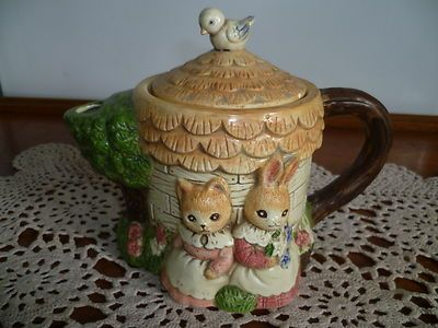 "Vintage Teapot with ""Rabbits"" 50YO Mint ""Bunnykins "" Collectors Delight 