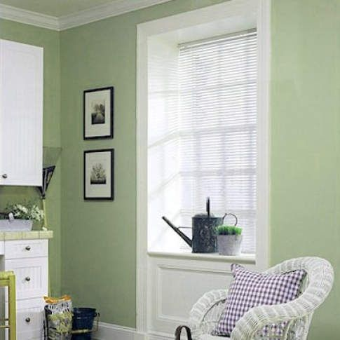 Levolor Riviera One Mini Blinds The Better 1 Metal Blind Option Integrated Valance Provides A Con Contemporary Windows Contemporary Decor Blinds For Windows