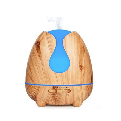7 Farben Aroma-Diffuser 500ml Ultraschall Luftbefeuchter Holz Humidifier DE