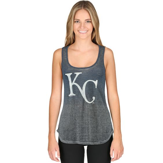 Kansas City Royals Touch by Alyssa Milano Women's Twisted Tank Top - Royal/Gray