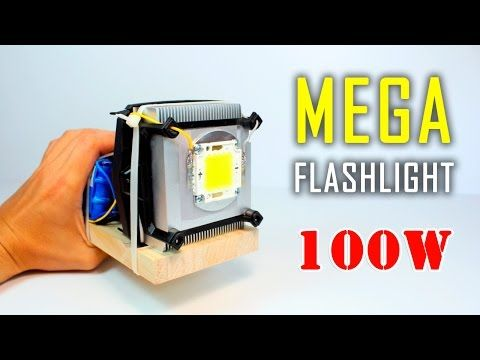 How To Make High Power Led Light At Home 40 Watt Youtube Flashlight Led Flashlight Led