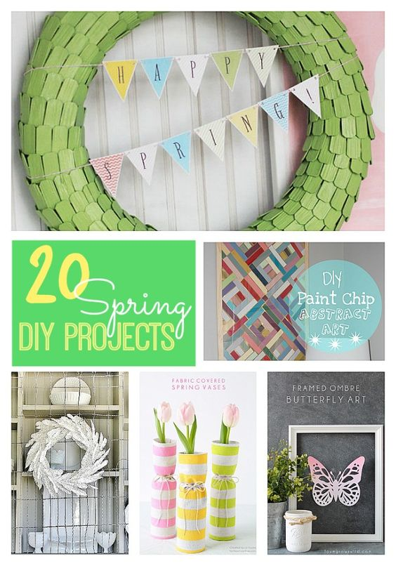 Great Ideas! -- 20 DIY Spring Projects for YOUR Home! #DIY #Spring