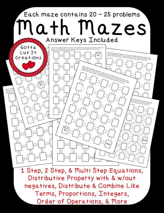 Worksheets Multi Operational Mathematical Maze multi operational mathematical maze rupsucks printables worksheets no prep ready to print math mazes covering the following concepts