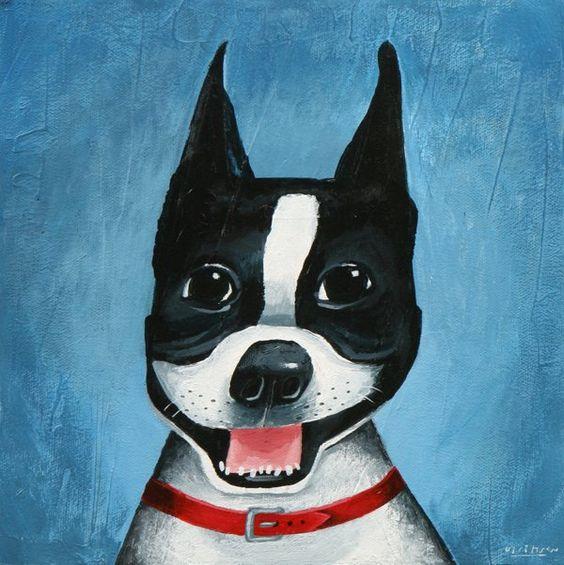 Mark Ulriksen.  http://markulriksen.com/: Make Art, Smiling Dogs, Animals Illustrated, Arty Stuff, Dog Smiles, Mark Ulriksen, Boston Terriers