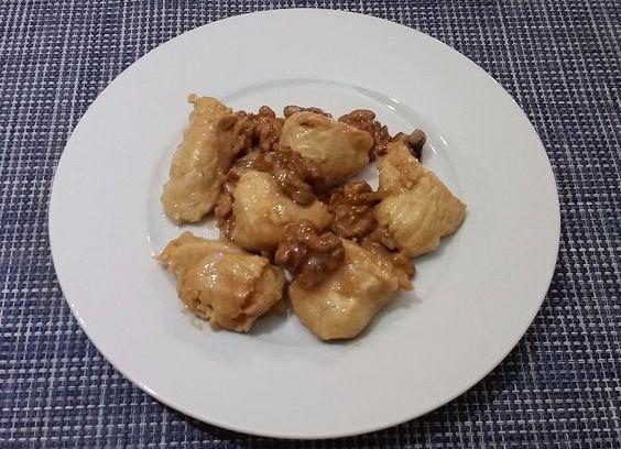 Pollo con salsa de soja y nueces para #Mycook…