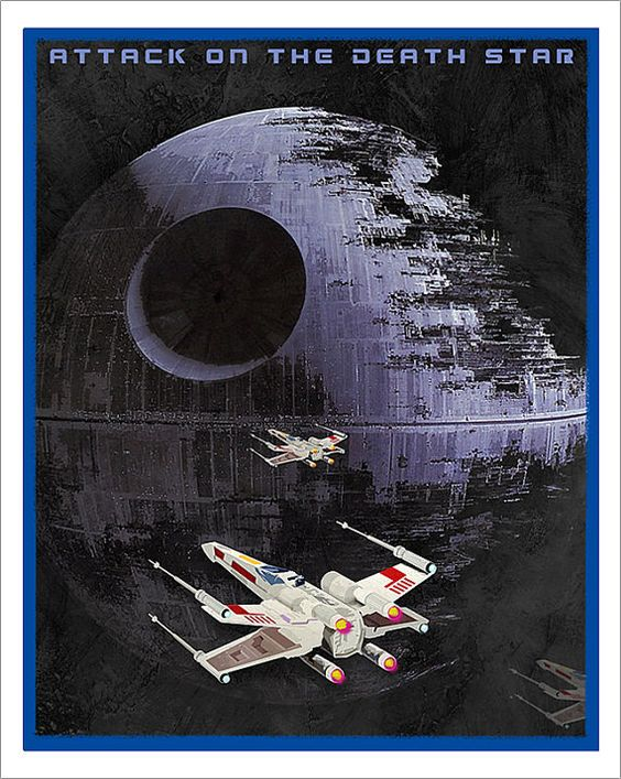 Star Wars Death Star poster  Attack on the Death by aswegoArts,