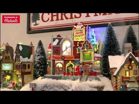Lemax Christmas Village With Michaels Michaels Youtube In 2020 Lemax Christmas Village Lemax Christmas Christmas Villages