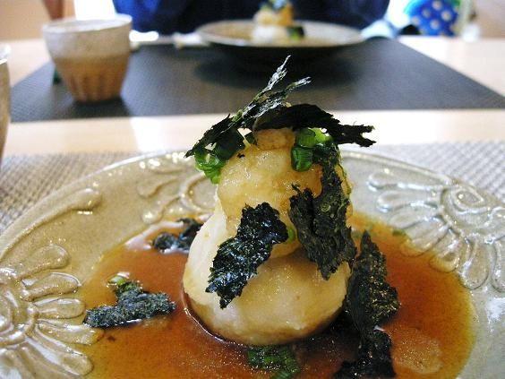 つらなり森のレストラン 里芋のべっ甲餡かけ