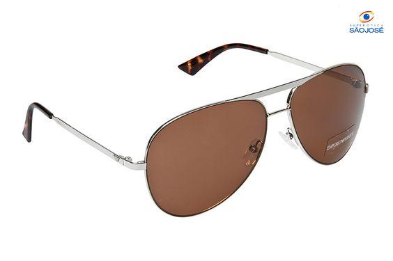 Oculos de sol Emporio Armani Aviator lente Marrom REF:EMP0974053YG859                                                                                     De:R$ 820,00 Por:R$ 574,00
