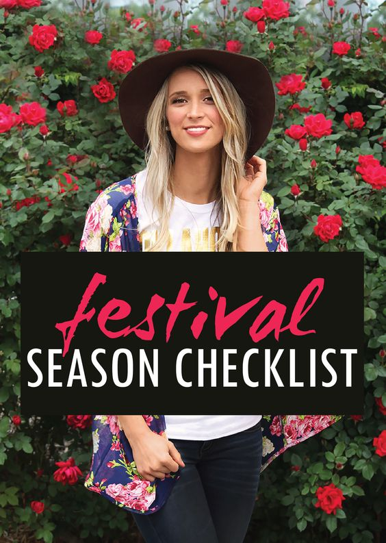 Ultimate Festival Season Checklist