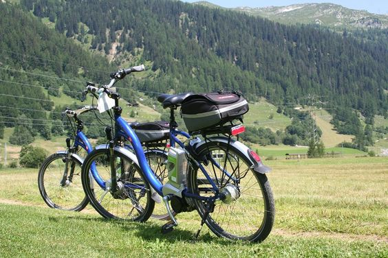 You can hire a conventional mountain bike, or an electric bicycle at Oberwald in the Valais, then ride alongside the river Rhone. Beautiful day out...more here.