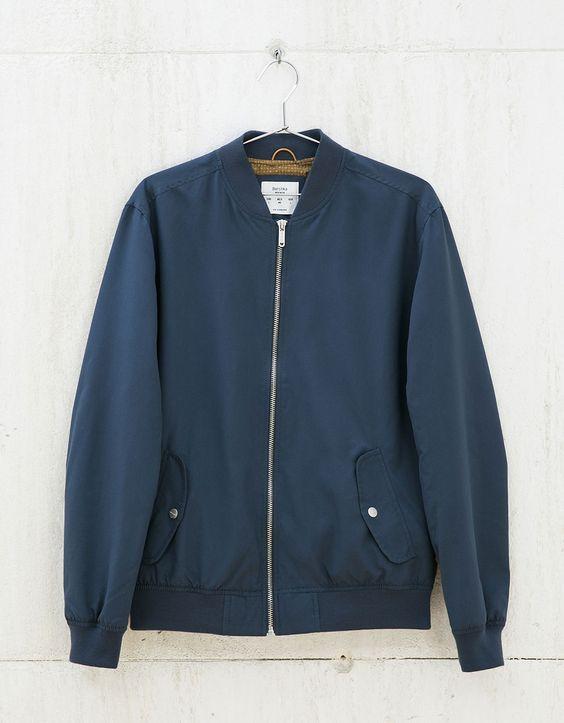 Coloured bomber jacket.