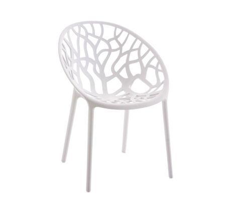 Chaise D Interieur Ou D Exterieur En Plastique Blanc Empilable 1 1 Chaise De Jardin Chaise Exterieur