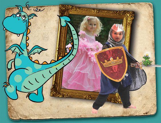 een betoverende prinsesjes en ridder koffer voor kleutertjes... ideaal voor een feestje thuis!