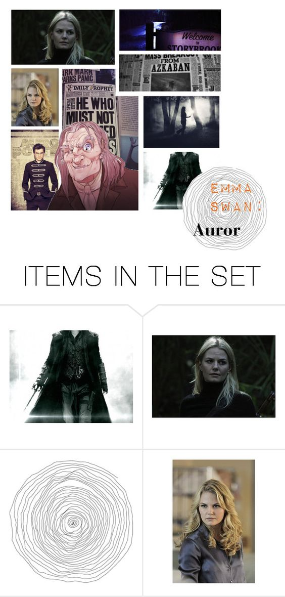 """""""Emma Swan:Auror"""" by nyssa-fire ❤ liked on Polyvore featuring art and BOTOF6"""