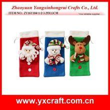 Christmas decoration (ZY16Y184-1-2-3 29X13CM) christmas product christmas gift bag christmas wine bag