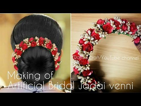 Easy And Elegant Artificial Bridal Flower Veni Tutorial Youtube