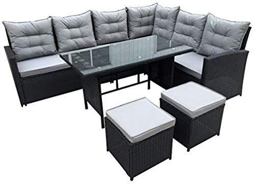 Svita Monroe Polyrattan Ecksofa Rattan Lounge Esstisch Gartenmobel