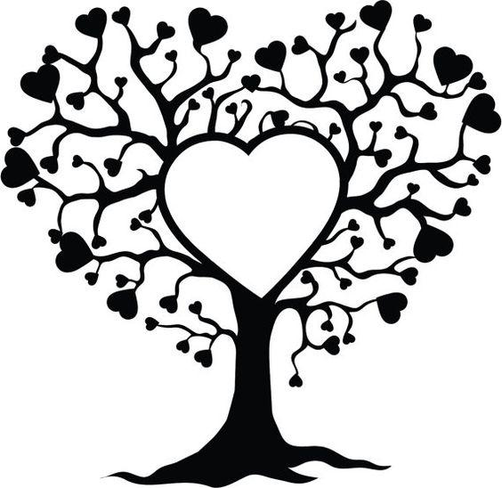 Baum des Lebens mit Herz Stickerei design von Livelifecreation
