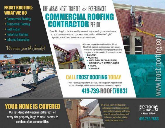 flyer #brochure #design #NOWMG #NowMarketingGroup #FrostRoofing ...