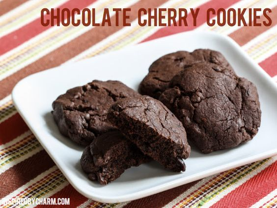 Chocolate Cherry Cookies // Fall Cookie Week - Inspired by CharmInspired by Charm