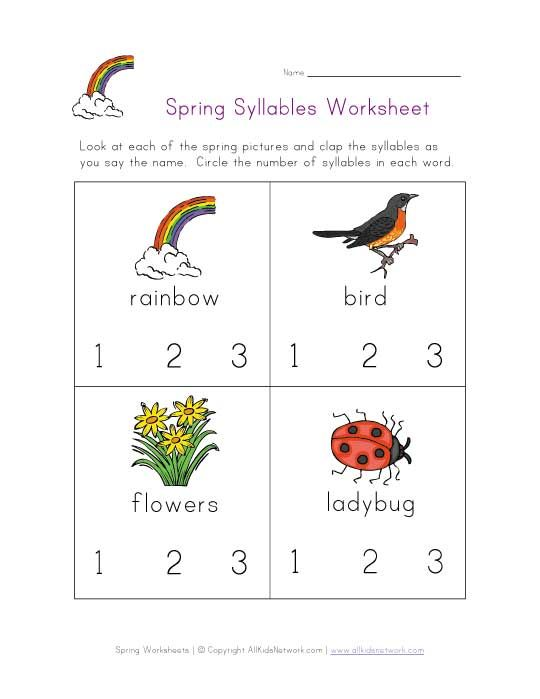 syllables worksheets images google search syllables pinterest syllable reading. Black Bedroom Furniture Sets. Home Design Ideas