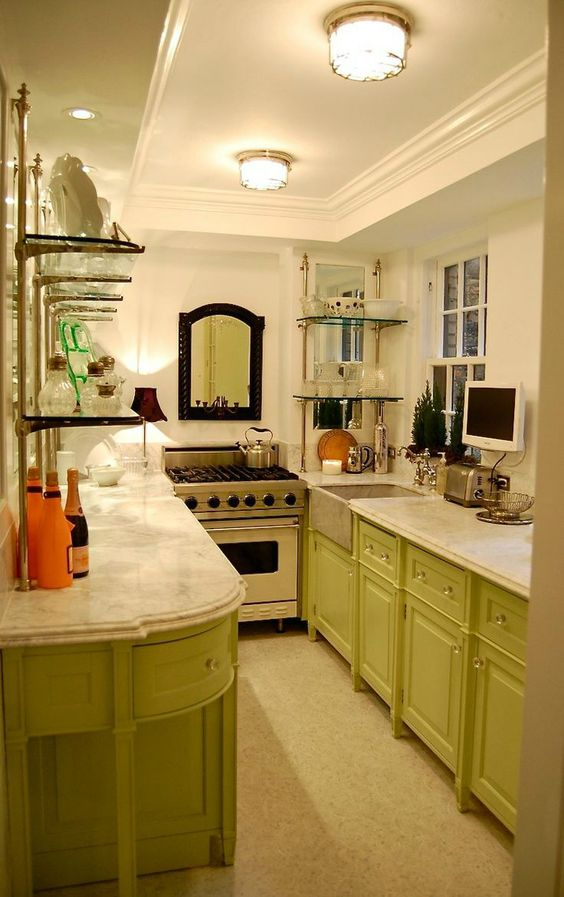 47 best galley kitchen designs galley kitchens galley Small kitchen setup