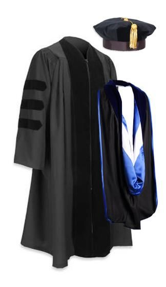 This is the cap and gown for graduating with a doctorate degree.  I want this in the worst way and I'm gonna get it! !!: