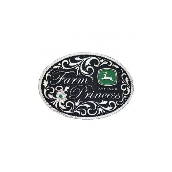 Farm Princess John Deere Attitude Belt Buckle (61182) ($42) ❤ liked on Polyvore featuring accessories, belts, jewelry, buckle belt, john deere belt, black buckle belt, john deere and black belt