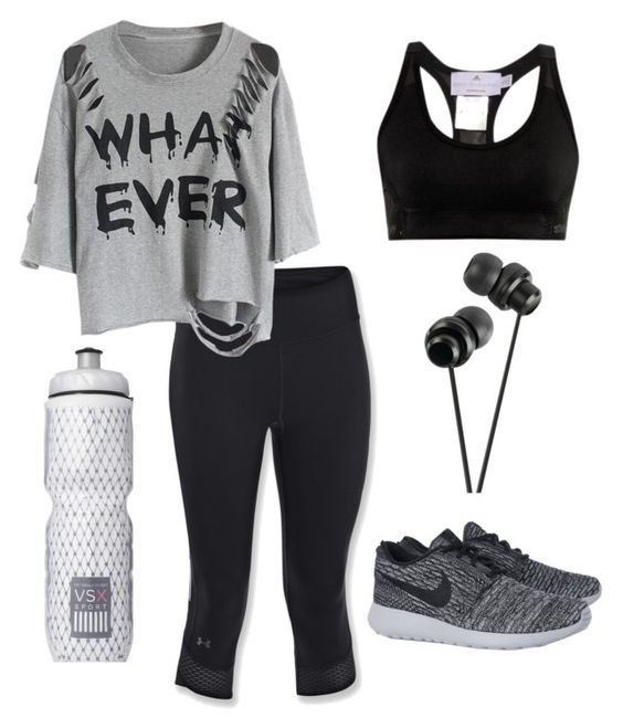 """Let's get Fit !"" by kiaraamonae on Polyvore featuring Under Armour, NIKE, adidas and Victoria's Secret"